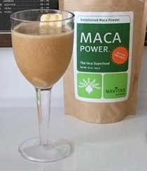 Glass With Maca Liquid