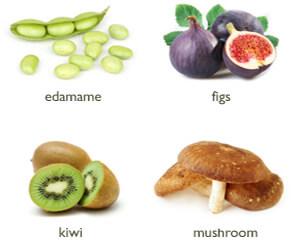 Edamame Figs Kiwi Mushroom