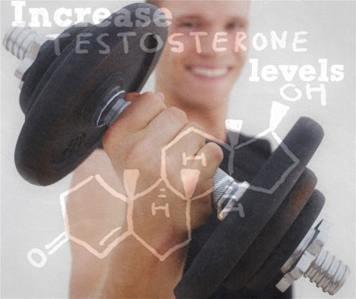 Increase Testosterone Levels Men with Dumbbell