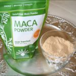 Maca Powder On Silver Plate