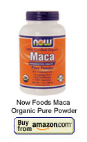 NOW Foods - Maca Pure Powder 100% Certified Organic Reproductive Health