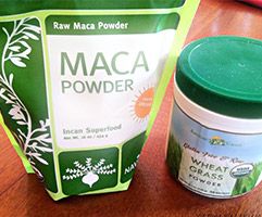 Maca Root Powder Wheat Grass