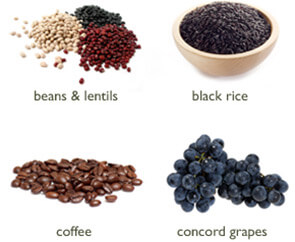 Beans&Lentils Blackrice Coffe ConcordGrapes