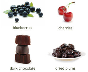 Blue Berries Cherries DarkChocolate DriedPlums